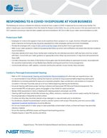 Responding to a COVID-19 Exposure at Your Business
